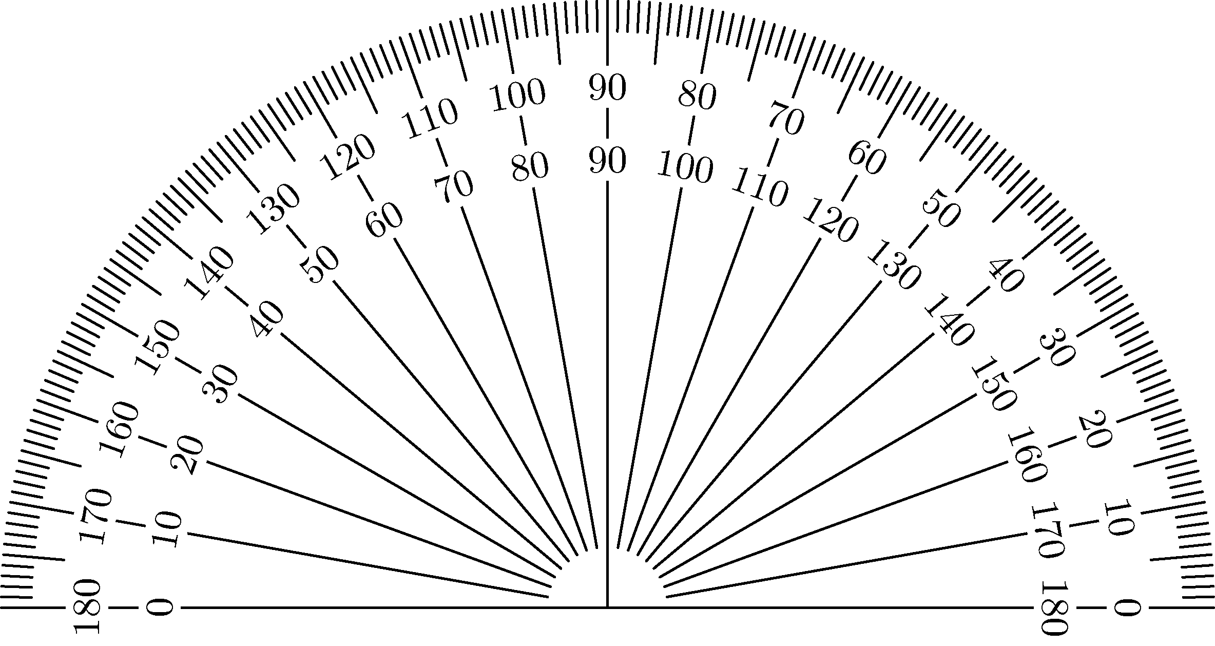Astounding image with printable protractor